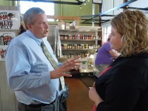 "No ""crazy, bloody"" primary: Iowa Secretary of Agriculture discusses Senate run during visit to NewBo City Market in Cedar Rapids"