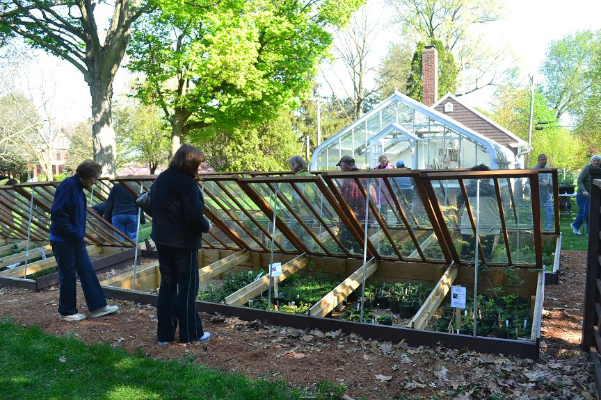 Cold frames line the south of the Lord & Burnham Greenhouse on the Brucemore estate in Cedar Rapids. (photo/Steve Gravelle)