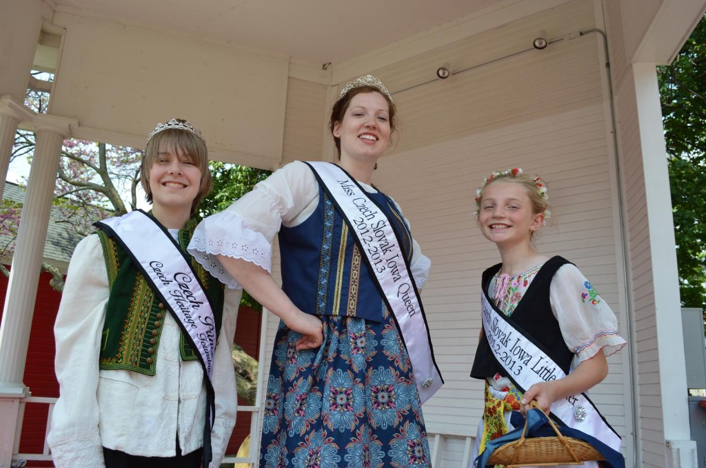 The Czech Heritage Foundation's Czech royalty court is shown after the Parade of Kroje during Houby Days on Saturday, May 18, 2013, in Czech Village. (photo/Cindy Hadish)