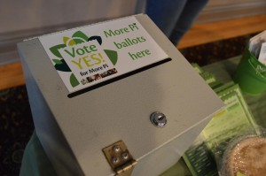 Voting results were tallied Monday, June 17, 2013, for New Pioneer Food Co-op's ballot initiative. (photo/Cindy Hadish)