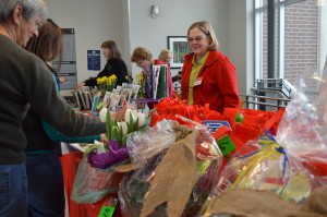 Drawings were held for door prizes Feb. 15, 2014, at the Winter Gardening Fair at Kirkwood Community  College in Cedar Rapids, Iowa. (photo/Cindy Hadish)