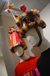 Colorful hats worn during a spring parade revolving around fertility in Eastern Bohemia are   among the items on display at a new exhibit at the National Czech & Slovak Museum & Library. (photo/Cindy Hadish)