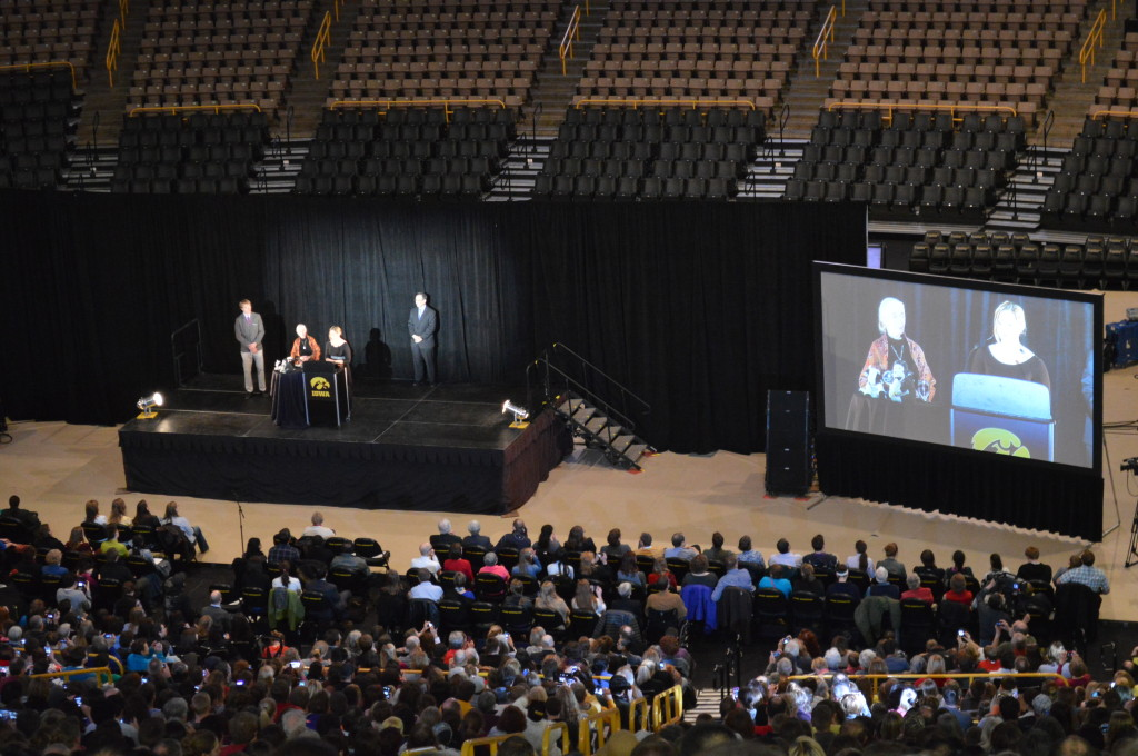 Jane Goodall inspires audience at the University of Iowa