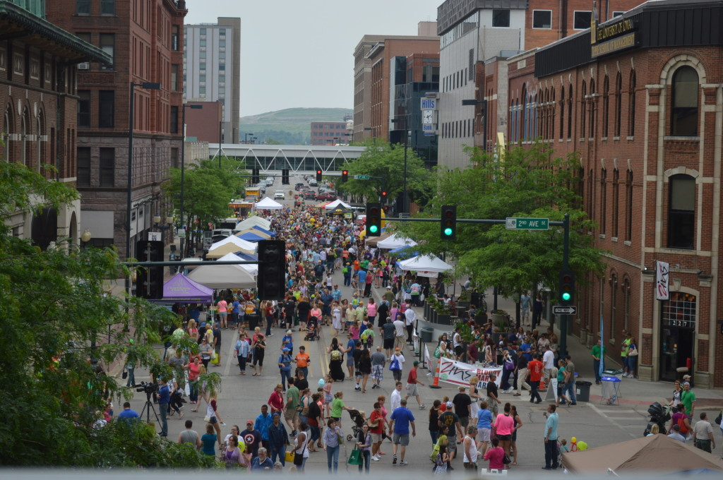 The Downtown Farmers Market shifted slightly this year, moving to Second and Third avenues SE, due to construction on Fourth Avenue in Cedar Rapids. (photo/Cindy Hadish)