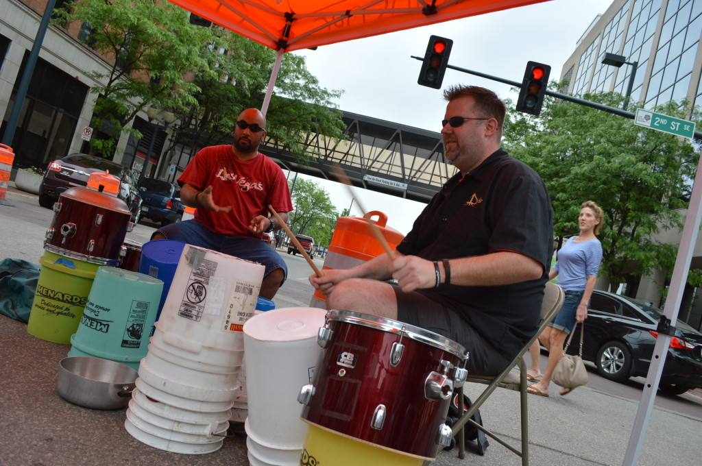 Junk Funk performs on Saturday, June 7, 2014, at the first Downtown Farmers Market of the season in Cedar Rapids, Iowa. (photo/Cindy Hadish)