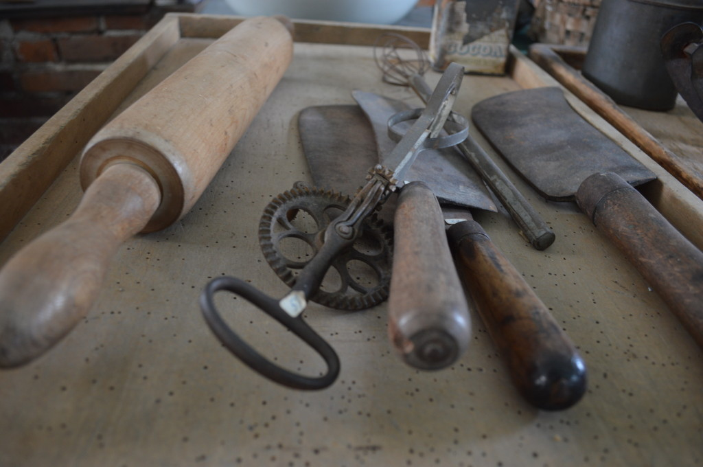 A rolling pin and other commonly used items are shown in the Communal Kitchen Museum in Middle Amana. The museum is open daily in the summer. (photo/Cindy Hadish)