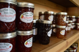 The jam sold at the store is made by Bonnie Lacina. (photo/Cindy Hadish)