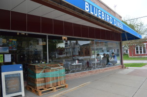 The Bluebird Diner opened in a former paint store in Iowa City in 2008. (photo/Cindy Hadish)