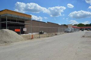 Work is under way for the new Fareway store at 3717 First Ave. SE, in the Town & Country Shopping Center. The store will open just blocks from The Fresh Market's new store on Collins Road NE in Cedar Rapids. (photo/Cindy Hadish)