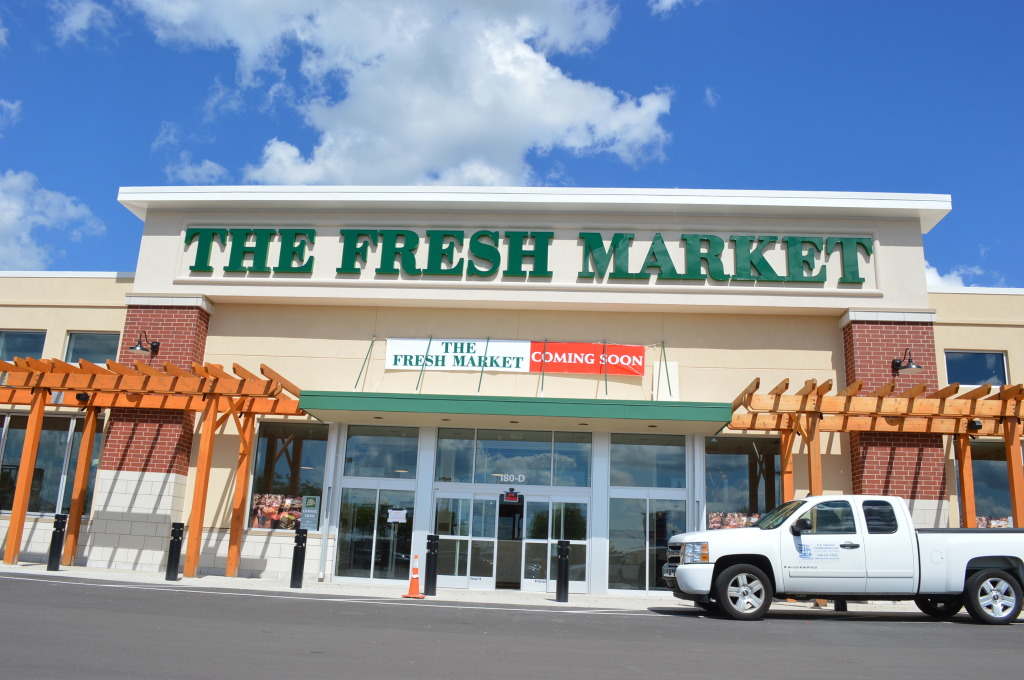 The Fresh Market will open Oct. 1, 2014, at the former Kmart location, 180 Collins Rd. NE, in Cedar Rapids, Iowa. The opening will mark the first foray into Iowa for the chain, which offers local, organic and all-natural products, prepared foods, custom cuts of meat and bulk spices. (photo/Cindy Hadish)
