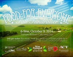 Farmers on the auction block at Food-for-Everyone event in Iowa City