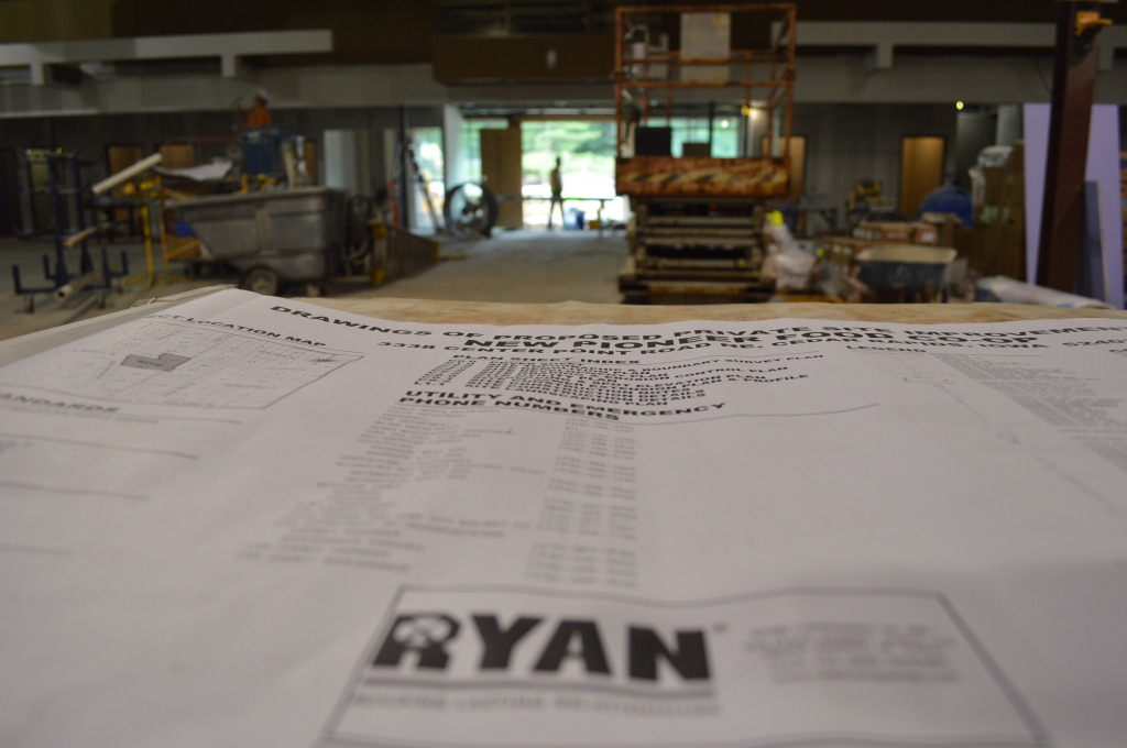 Ryan Companies is the general contractor for New Pioneer Food Co-op's new store in Cedar Rapids. The store is using an existing building and incorporating environmentally friendly and energy efficient features. (photo/Cindy Hadish)