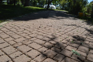 Examples of permeable pavers can be found at the Indian Creek Nature Center in Cedar Rapids, Iowa. (photo/Cindy Hadish)