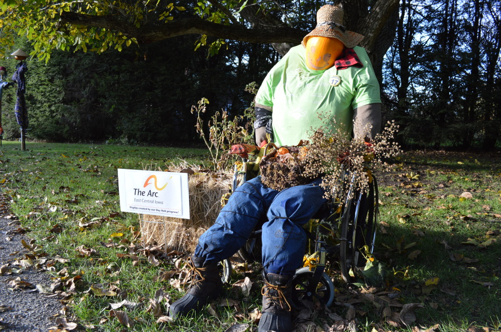 The ARC produced one of the displays at Brucemore for the Scarecrow Invasion. (photo/Cindy Hadish)