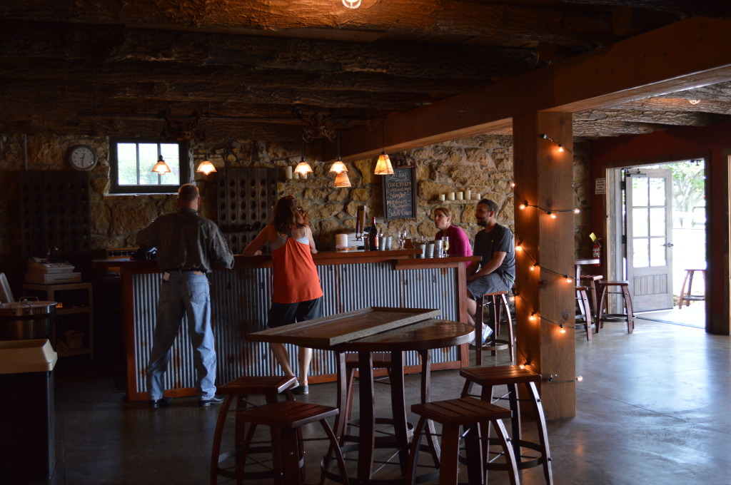 Sutliff Cider's tasting room is located inside a rustic barn in rural Lisbon, Iowa. (photo/Cindy Hadish)