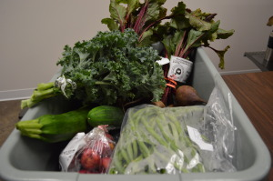 Fresh produce is ready for a customer at the Iowa Valley Food Co-op in Cedar Rapids, Iowa. (photo/Cindy Hadish)