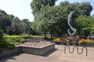 Greene Square Park in Cedar Rapids, Iowa, will undergo a radical change beginning in spring 2015. (photo/Cindy Hadish)