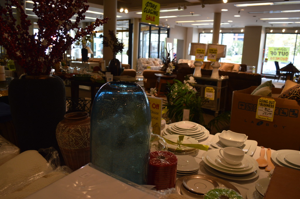 Besides furnishing, Smulekoff's also sold vases, silverware and other home accessories. (photo/Cindy Hadish)