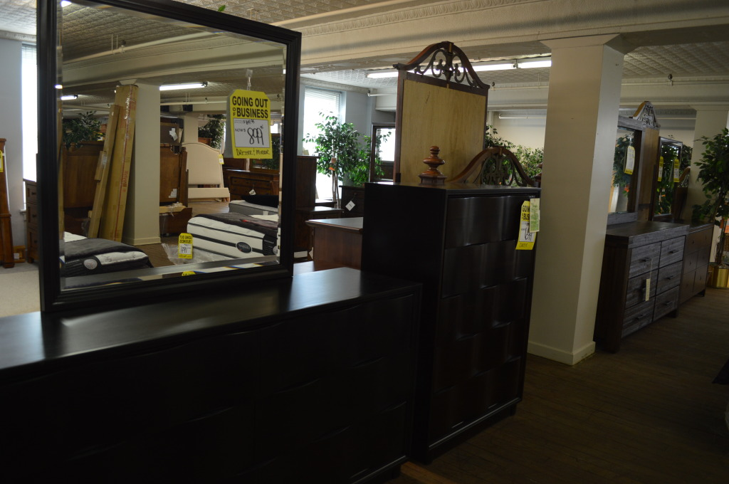 Bedroom furniture is among the items marked down during Smulekoff's final days. (photo/Cindy Hadish)