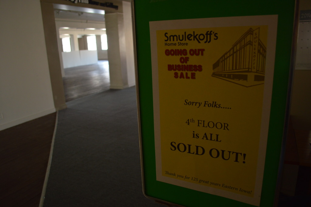 Floors were cleared out as merchandise was sold. (photo/Cindy Hadish)