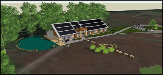 """This image shows the new Indian Creek Nature Center's """"Amazing Space"""" headquarters in Cedar Rapids. (SolumLang Architects)"""