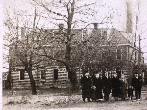 An undated photo shows the Johnson County Poor Farm in its early years. (Photo/courtesy Johnson County Board of Supervisors)