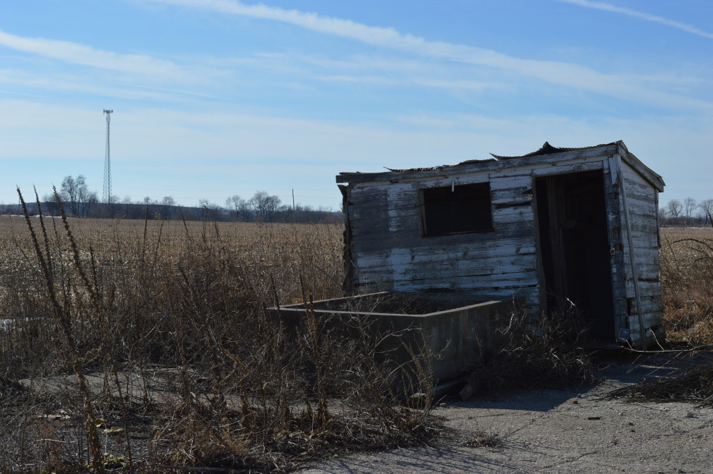 Smaller outbuildings also remain at the Johnson County Poor Farm, including this one, shown Jan. 24, 2015, in rural Iowa City. (photo/Cindy Hadish)