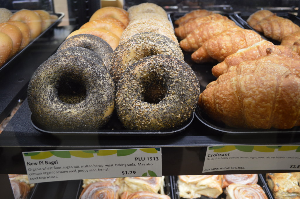 Bagels and other bakery items are sold at New Pioneer Food Co-op in Cedar Rapids, Iowa. (photo/Cindy Hadish)
