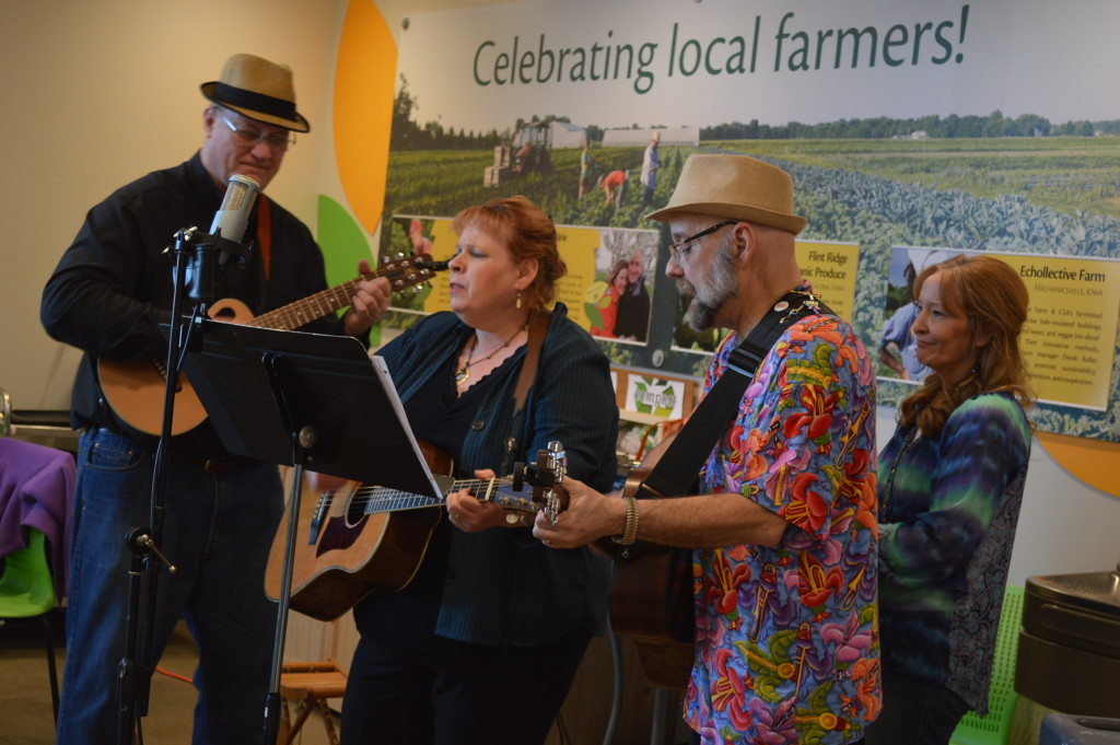 Customers were entertained with live music during the grand opening celebration of New Pioneer Food Co-op's new Cedar Rapids store. (photo/Cindy Hadish)