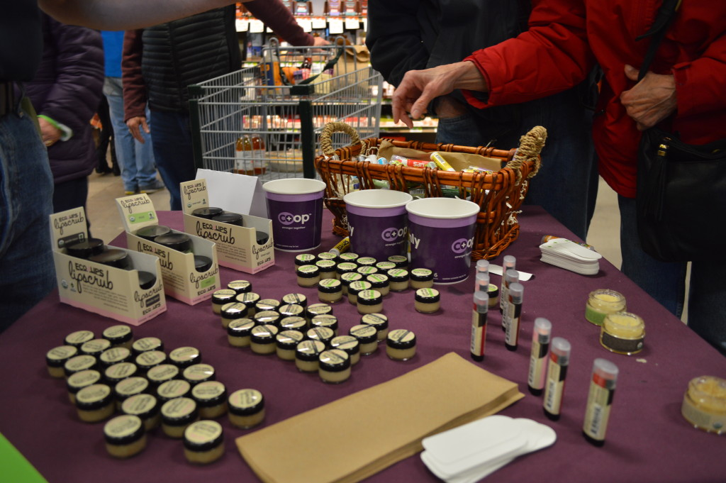 Eco Lips was among the local businesses represented at the grand opening celebration of New Pioneer Food Co-op's new Cedar Rapids store. (photo/Cindy Hadish)