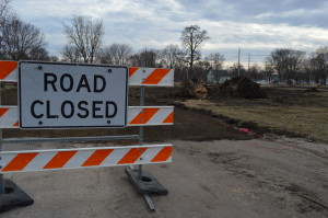 Roads and trees are being removed to make way for green space in Cedar Rapids. (photo/Cindy Hadish)