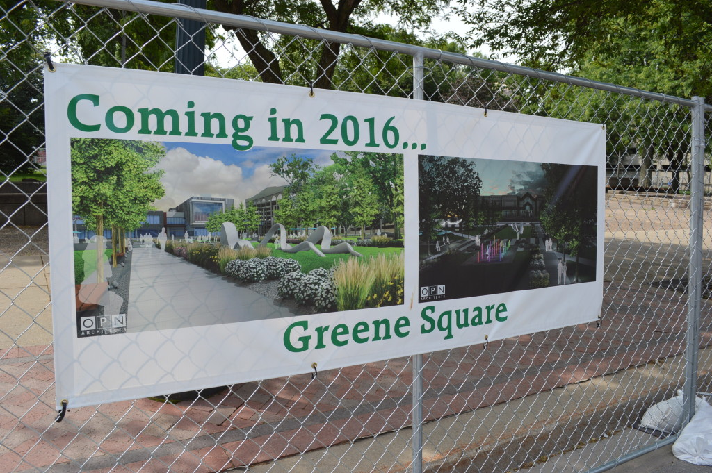 Due to construction in Greene Square Park, the Downtown Farmers Market has moved slightly, to center on Third Street SE in downtown Cedar Rapids. (photo/Cindy Hadish)