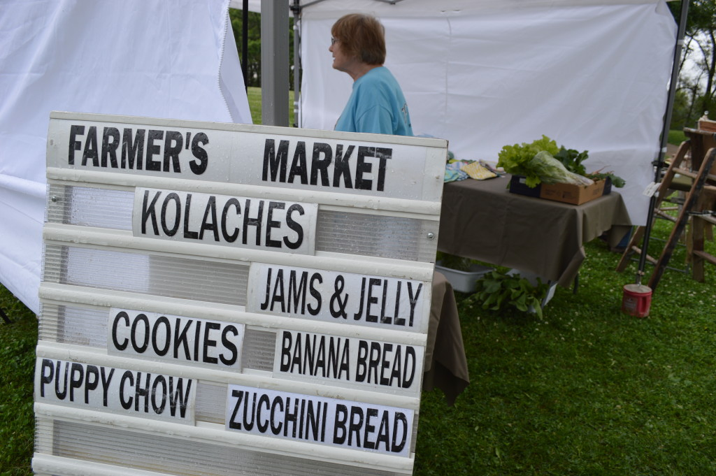 The first Village Farmers Market in Czech Village featured a wide variety of items for sale. (photo/Cindy Hadish)
