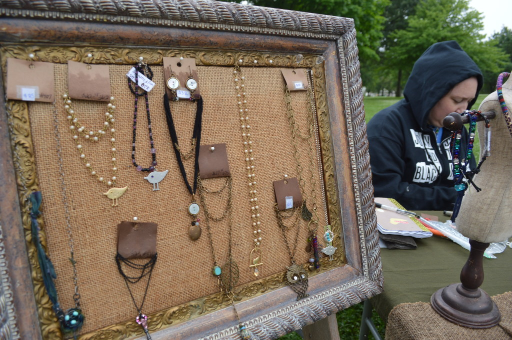 Journey Girl Jewelry sells handcrafted items during the Village Farmers Market in Czech Village. (photo/Cindy Hadish)