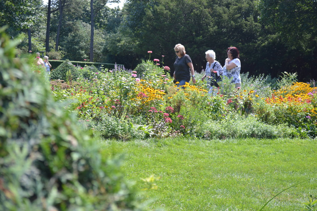 The formal gardens are a popular place for a stroll during the Brucemore Garden & Art Show. (photo/Cindy Hadish)