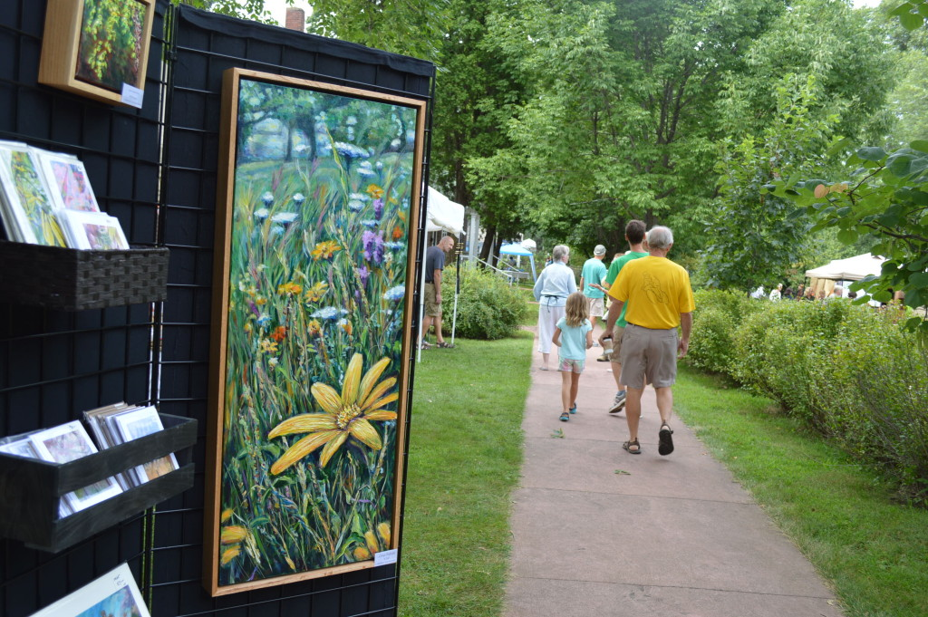 Lianne Westcot Fine Art was among the vendors featured at the 2015 Brucemore Garden & Art Show in Cedar Rapids, Iowa. (photo/Cindy Hadish)