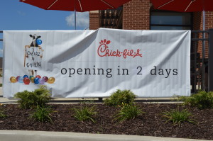 The new Westdale Mall location of Chick-fil-A will open Aug. 12, 2015. (photo/S. Bell)