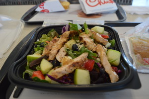 Chick-fil-A is moving towards 100 percent antibiotic-free chicken in its menu items. (photo/Cindy Hadish)