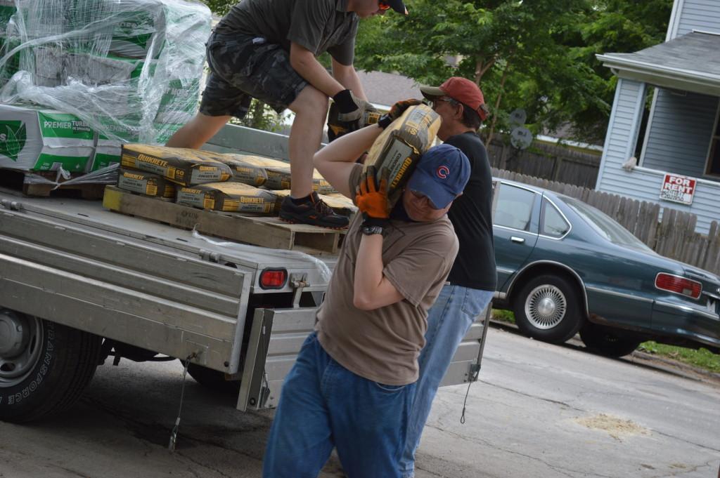 garden unloading