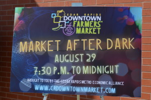 Cedar Rapids will host its first Market After Dark on Saturday, Aug. 29, 2015. (photo/Cindy Hadish)
