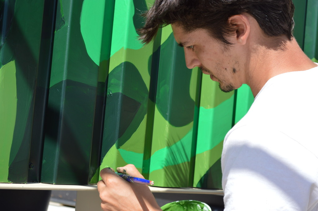 "Local artist ""draws"" attention to local foods with street art"