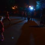 Children dance on the sidewalk on Saturday, Aug. 29, 2015, during  the first Market After Dark in Cedar Rapids, Iowa. (photo/Cindy Hadish)