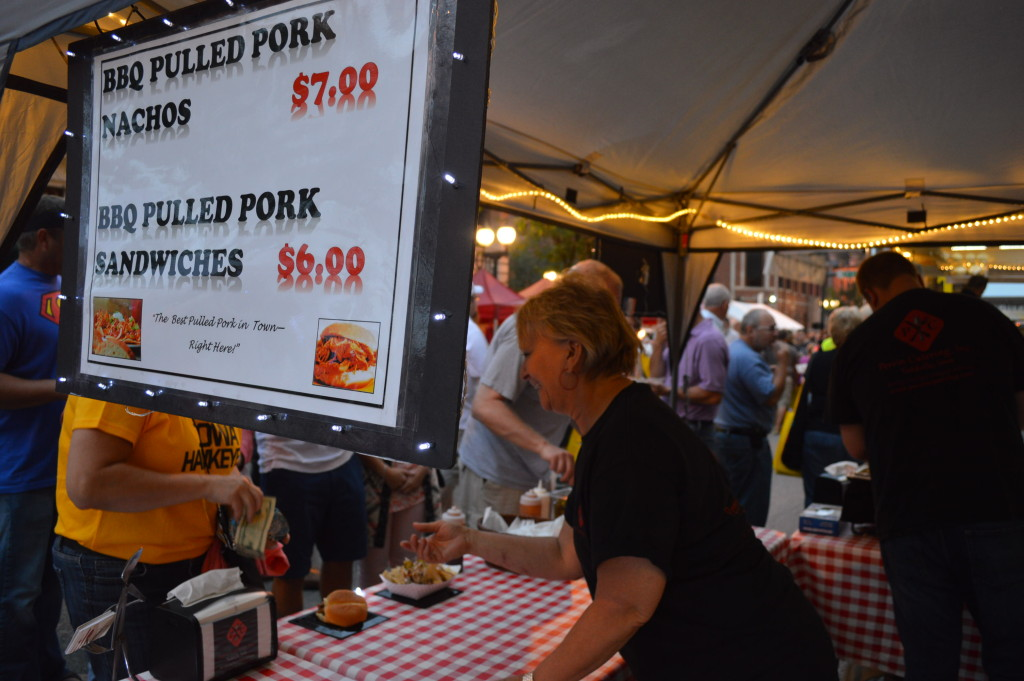 Prepared foods were another hot item at Market After Dark in downtown Cedar Rapids. (photo/Cindy Hadish)