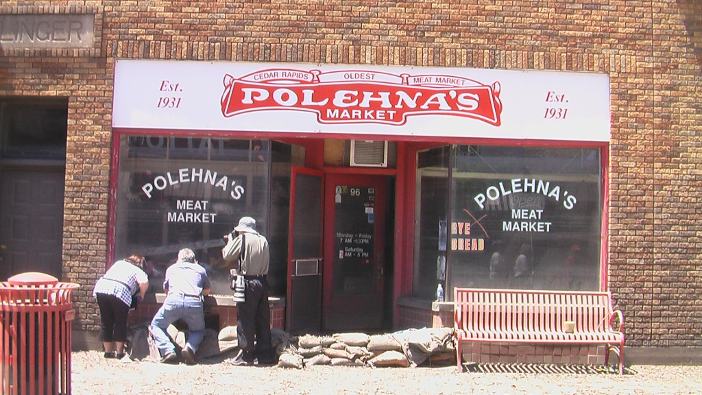 Polehna's Meat Market was among the casualties of the 2008 flood in Cedar Rapids, Iowa. More flooding is predicted in Czech Village and other areas as early as this weekend. (photo/Cindy Hadish)