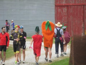 Costumes were part of the fun during last year's Iowa City Culinary Ride. (photo/Larry Hanus)