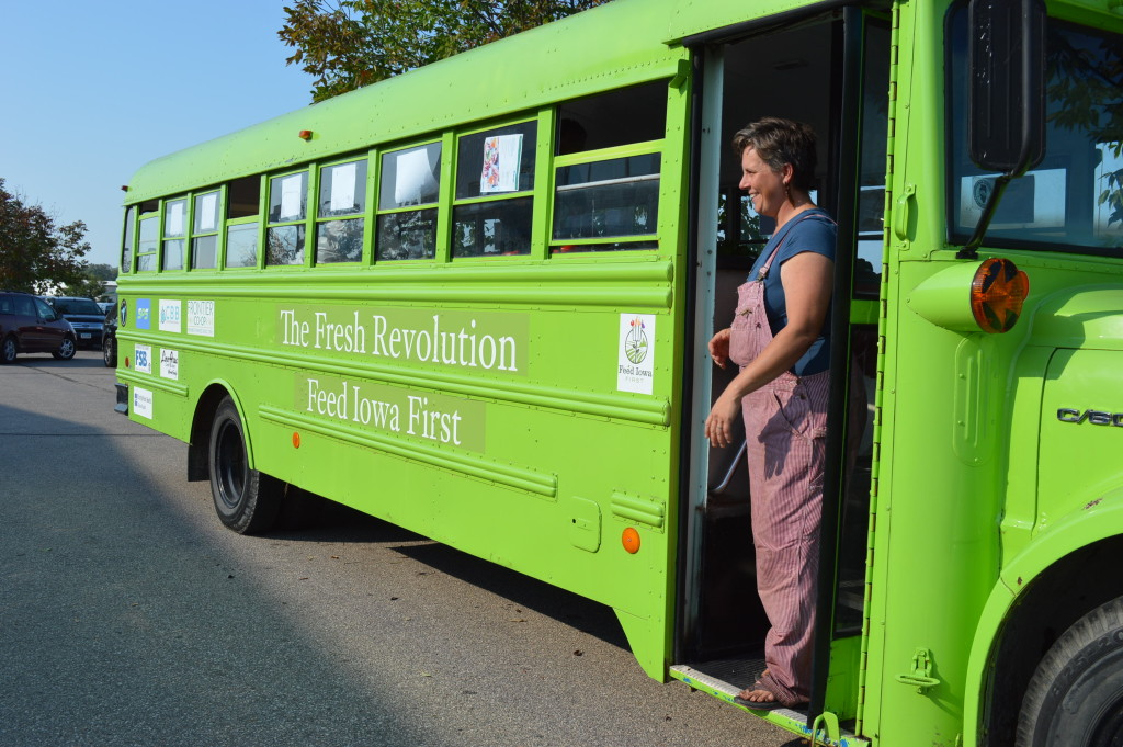 Feed Iowa First hits the road with veggie bus