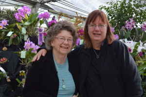 My California cousin and my aunt were among many visitors who enjoyed the orchid show in Cedar Rapids this weekend. (photo/Cindy Hadish)