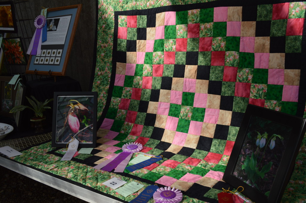 Lois and Nile Dusdieker also included a colorful orchid quilt in their award-winning display. (photo/Cindy Hadish)