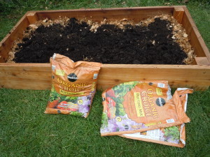 Step 4 and 5: Add other compost and topsoil. (photo/Cindy Hadish)