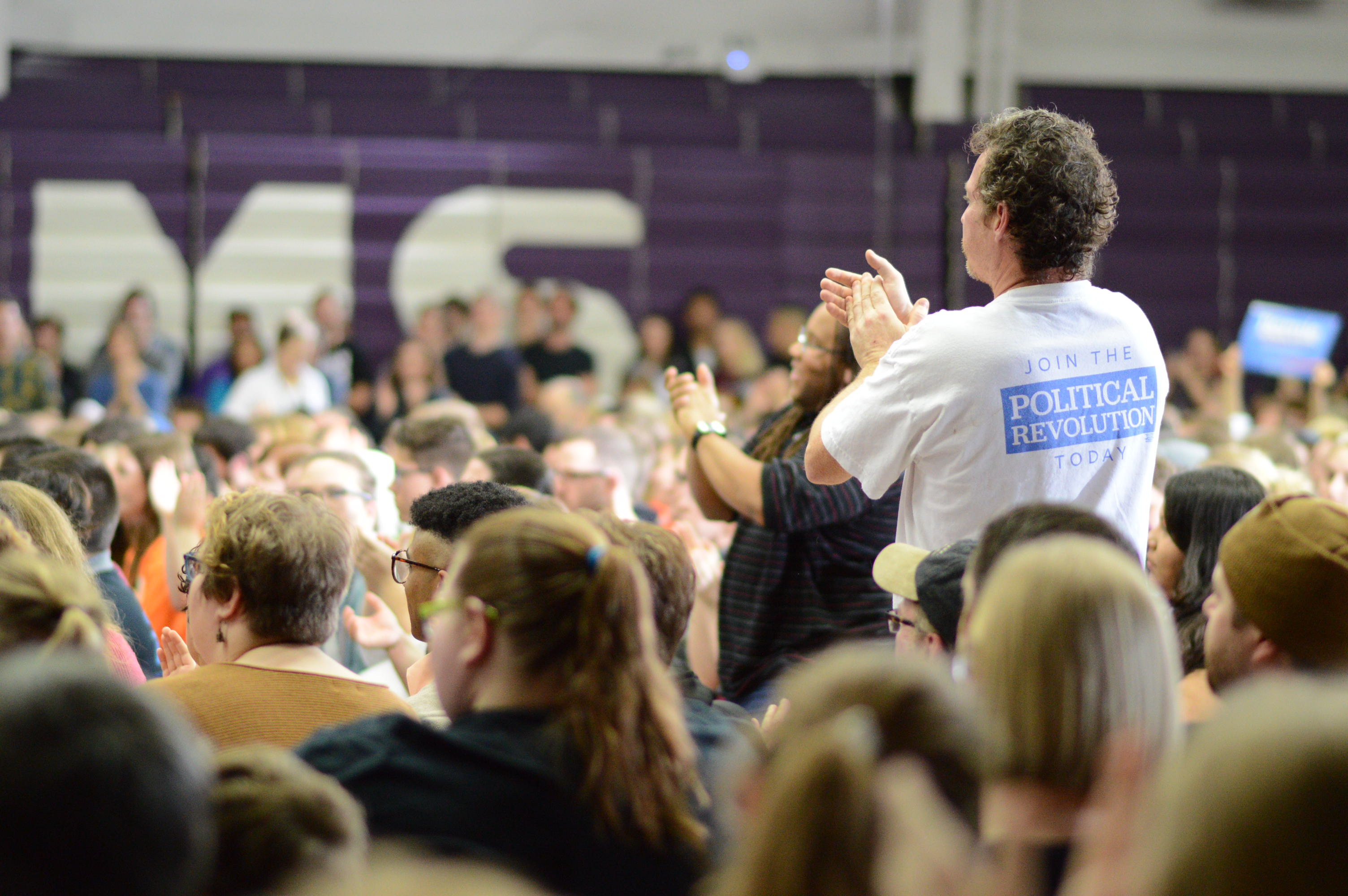 Photo gallery: Bernie Sanders at Cornell College in Mount Vernon
